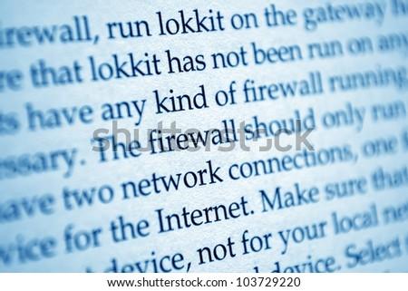 FIrewall network internet - stock photo