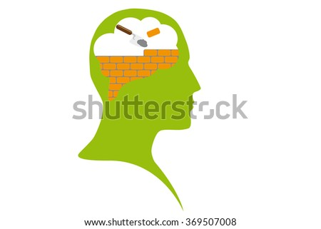Firewall or education process - stock photo