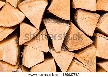 firewood - stock photo