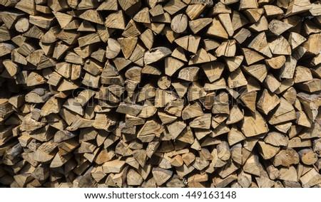 Firewood (Birch and Beech) - stock photo