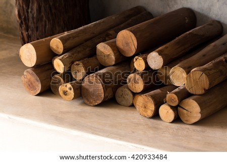 firewood  for fireplace  - stock photo