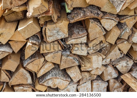 Firewood is any wooden material that is gathered and used for fuel.  Household plot. Dacha.