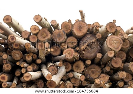 Firewood logs Firewood logs stacked  - stock photo
