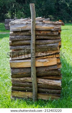 Firewood stock - stock photo