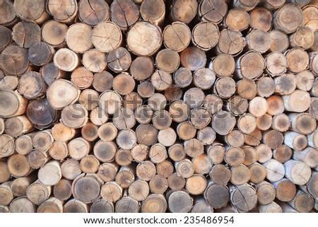 Firewood texture - stock photo