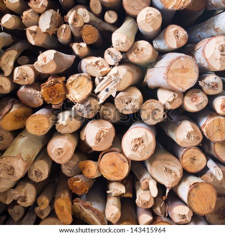 Firewood texture, after the dissect firewood - stock photo
