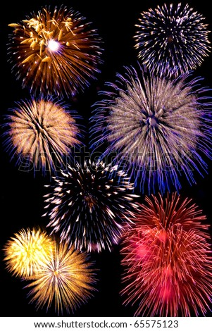 Firework celebrate background - stock photo
