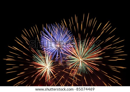 Firework Celebration, Thailand - stock photo
