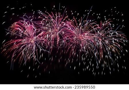 Firework display - stock photo