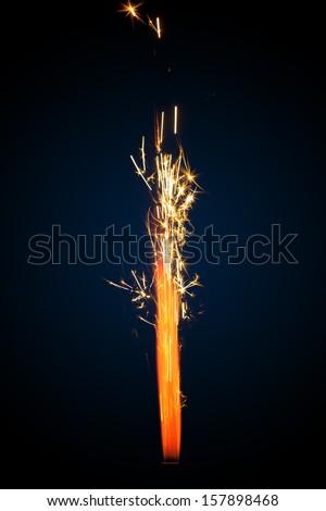 firework sparkler - stock photo