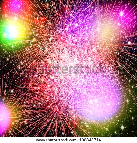 Fireworks. Abstract holidays backgrounds - stock photo