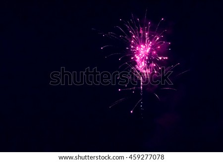 fireworks at the New Year's Eve - stock photo