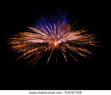 Fireworks background. Fireworks isolated