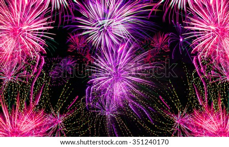 fireworks background for new years eve in 2016 and other celebrations