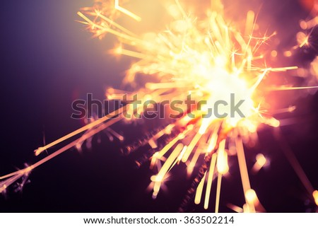 Fireworks.bokeh blur motion for background - stock photo