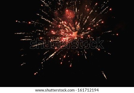 Fireworks display at night