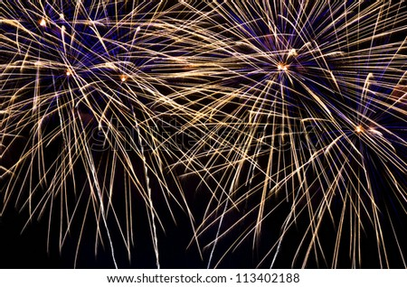 Fireworks display during the New Year's celebration - stock photo