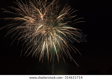Fireworks energy - stock photo