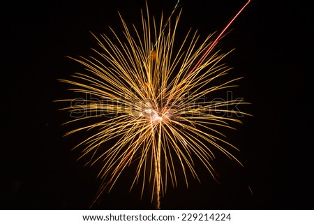 fireworks festival in Thailand - stock photo