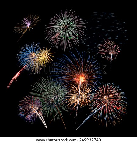 Fireworks Grouping - stock photo