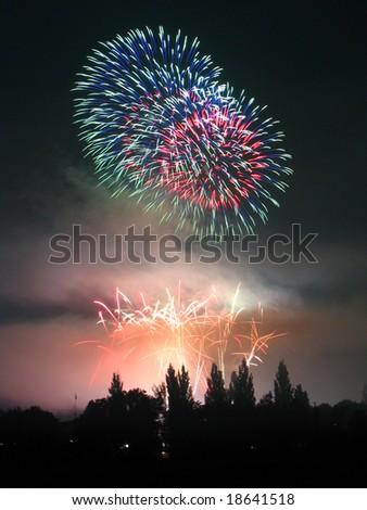 Fireworks Ignis Brunensis - stock photo
