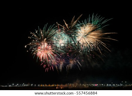 Fireworks on Bahrain National Day, December 16, 2016