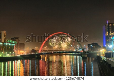 Fireworks over Clyde Arch - Glasgow