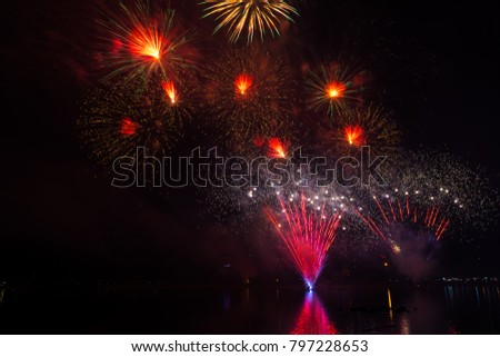 fireworks,Udonthani,Thailand 125 year anniversary.