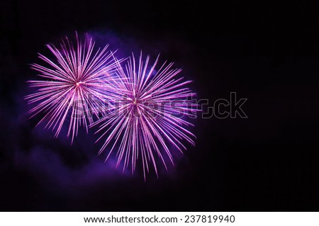 Fireworks with copy space  - stock photo