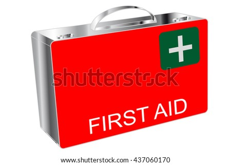 First Aid - box - stock photo