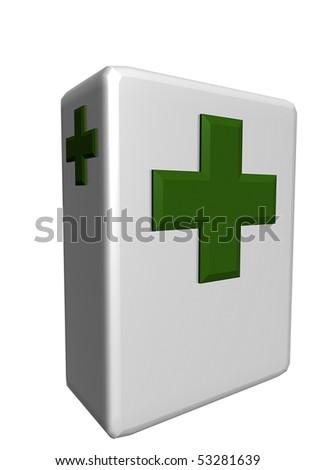 First aid box - stock photo