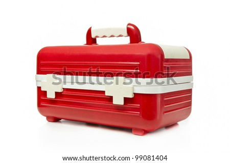 First aid box on a white background - stock photo