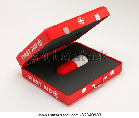 First Aid Concept (Hight Resolution 3D Image) - stock photo