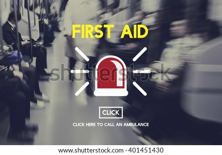 First Aid Emergency Accident Service Concept - stock photo
