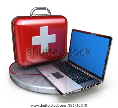 First aid for laptop in the design of information related to technical support