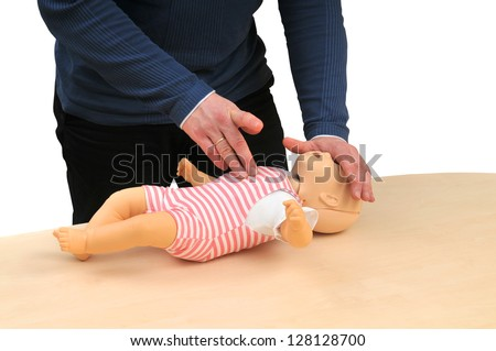 First aid instructor - stock photo
