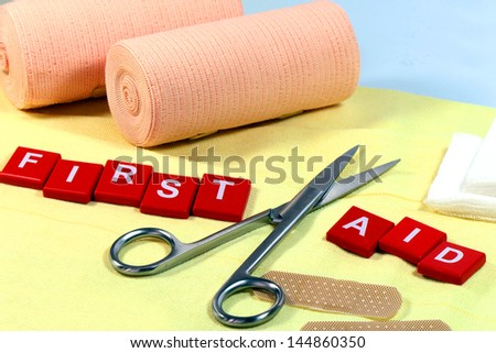 First Aid Kit. - stock photo