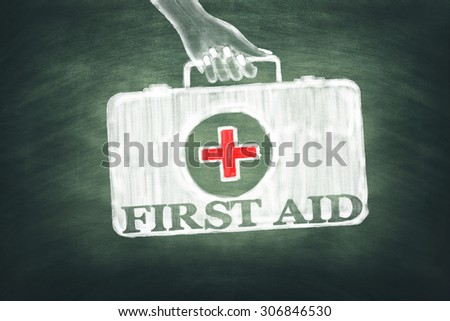First Aid Medical Bag - stock photo