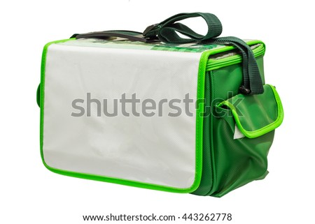 First aid medical bag on isolate white background