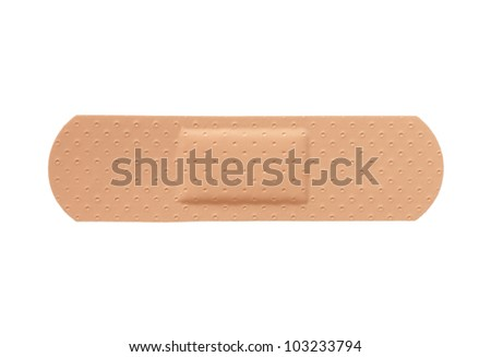 First aid plaster isolated - stock photo