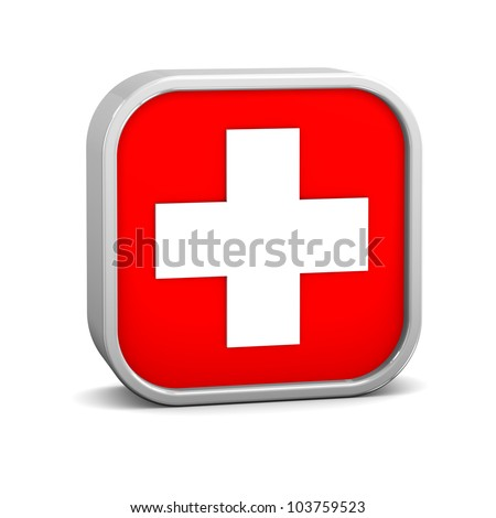 First aid sign on a white background. Part of a series.