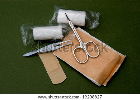first aid tools - stock photo