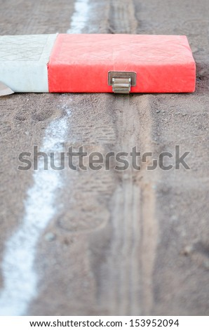 First Base - stock photo