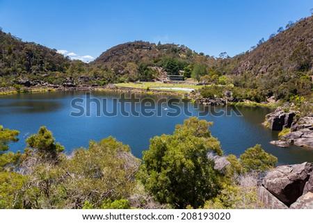 First Basin at Cataract George in Launceston, Tasmania, Australia - stock photo