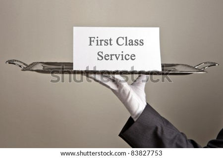 First-Class Service - stock photo