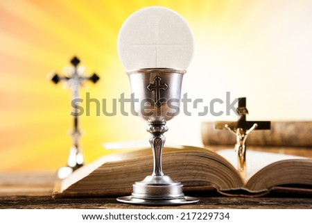 First communion  - stock photo