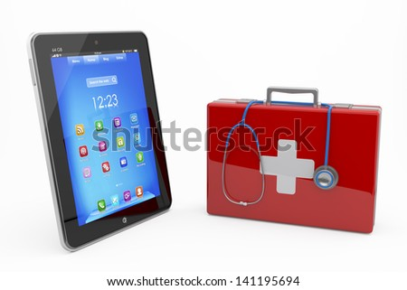 First computer aid concept - stock photo