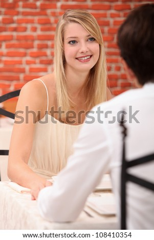 First date - stock photo