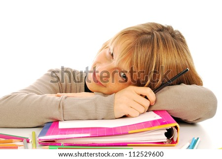 First day of school - 102 - A young student on the first day of school - stock photo