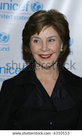 First Lady Laura Bush - stock photo